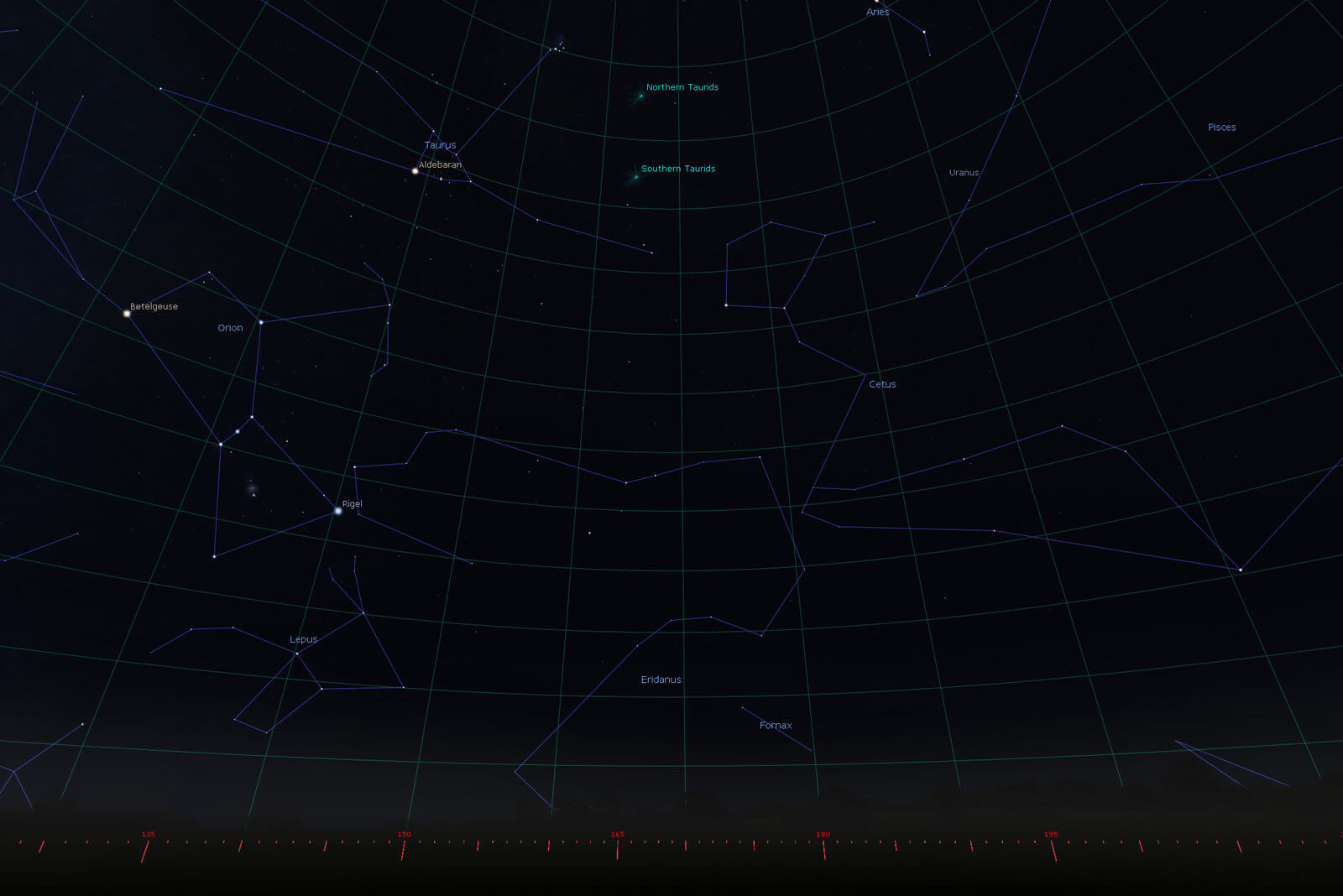The Taurids Meteor Shower 5th Nov 2018