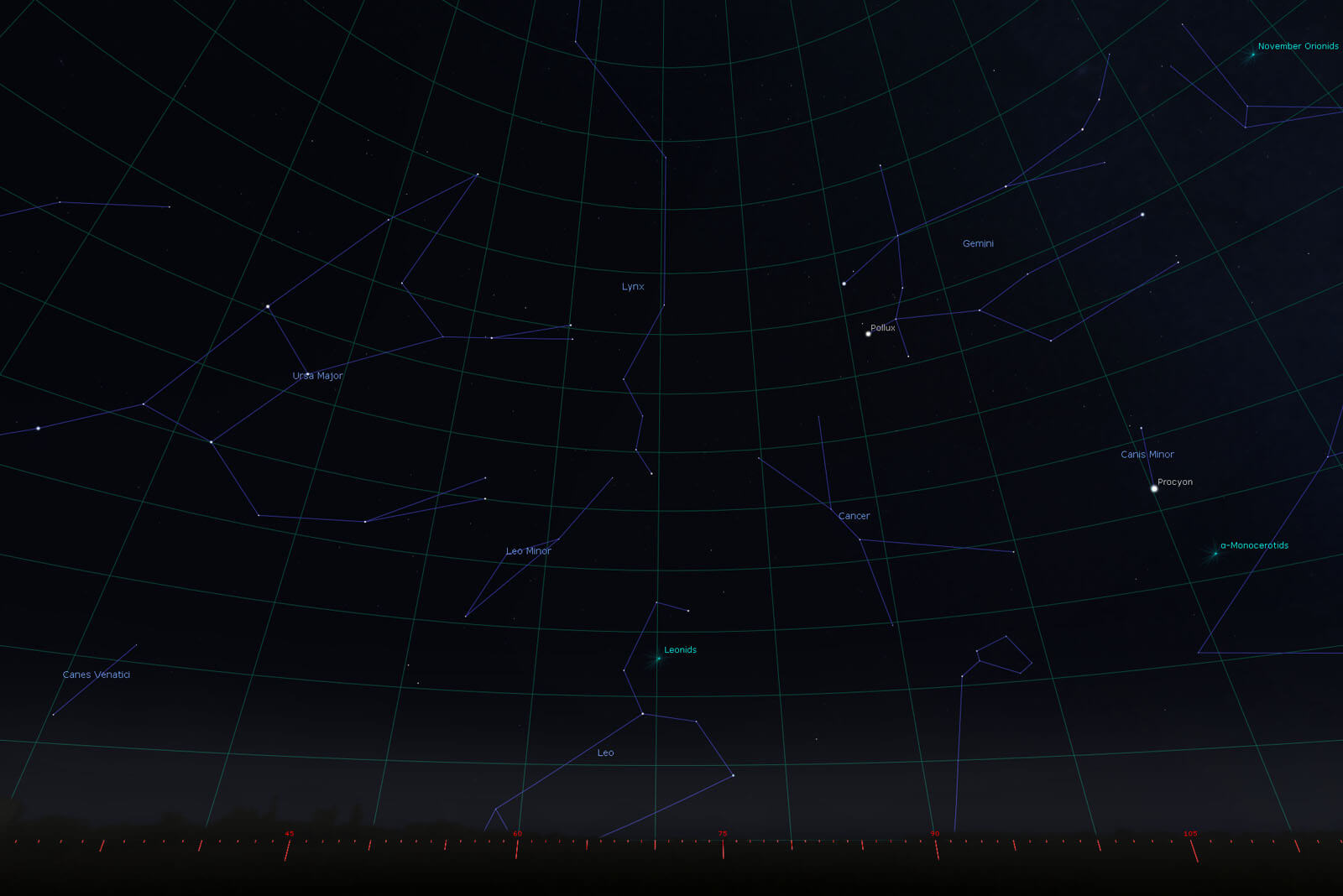 The Leonids Meteor Shower 17th & 18th Nov 2018