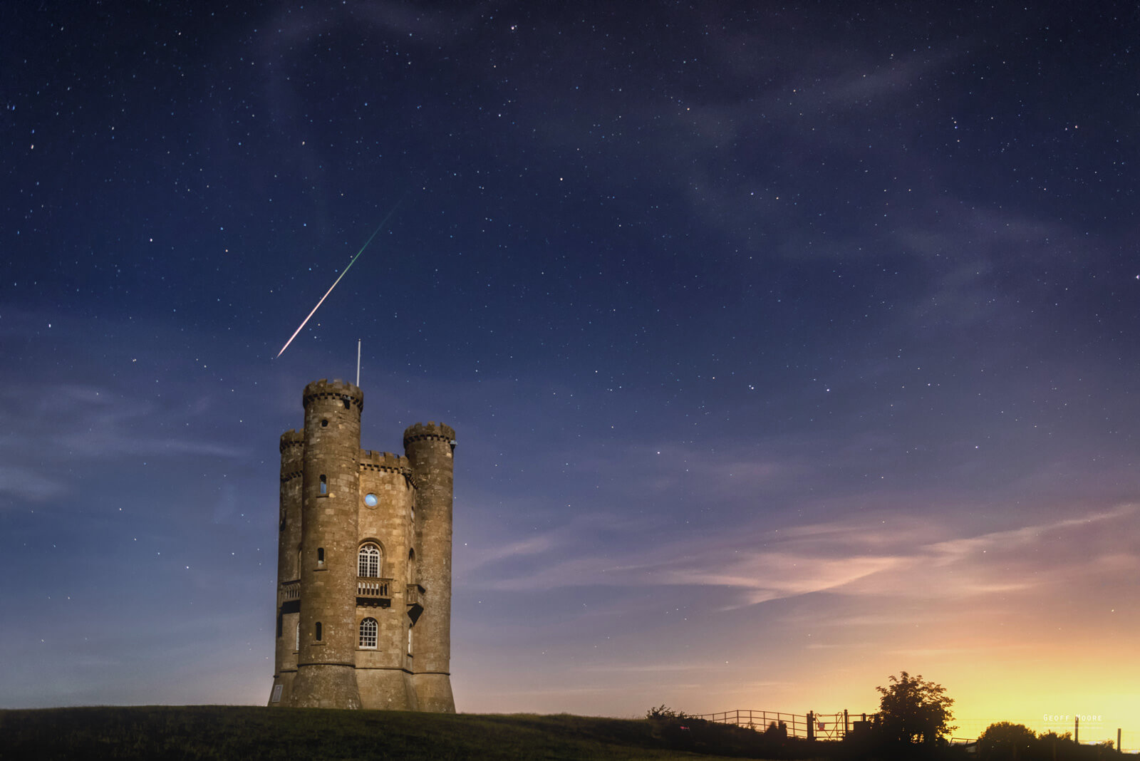 Persid Meteor Shower over Broadway Tower, Worcestershire UK