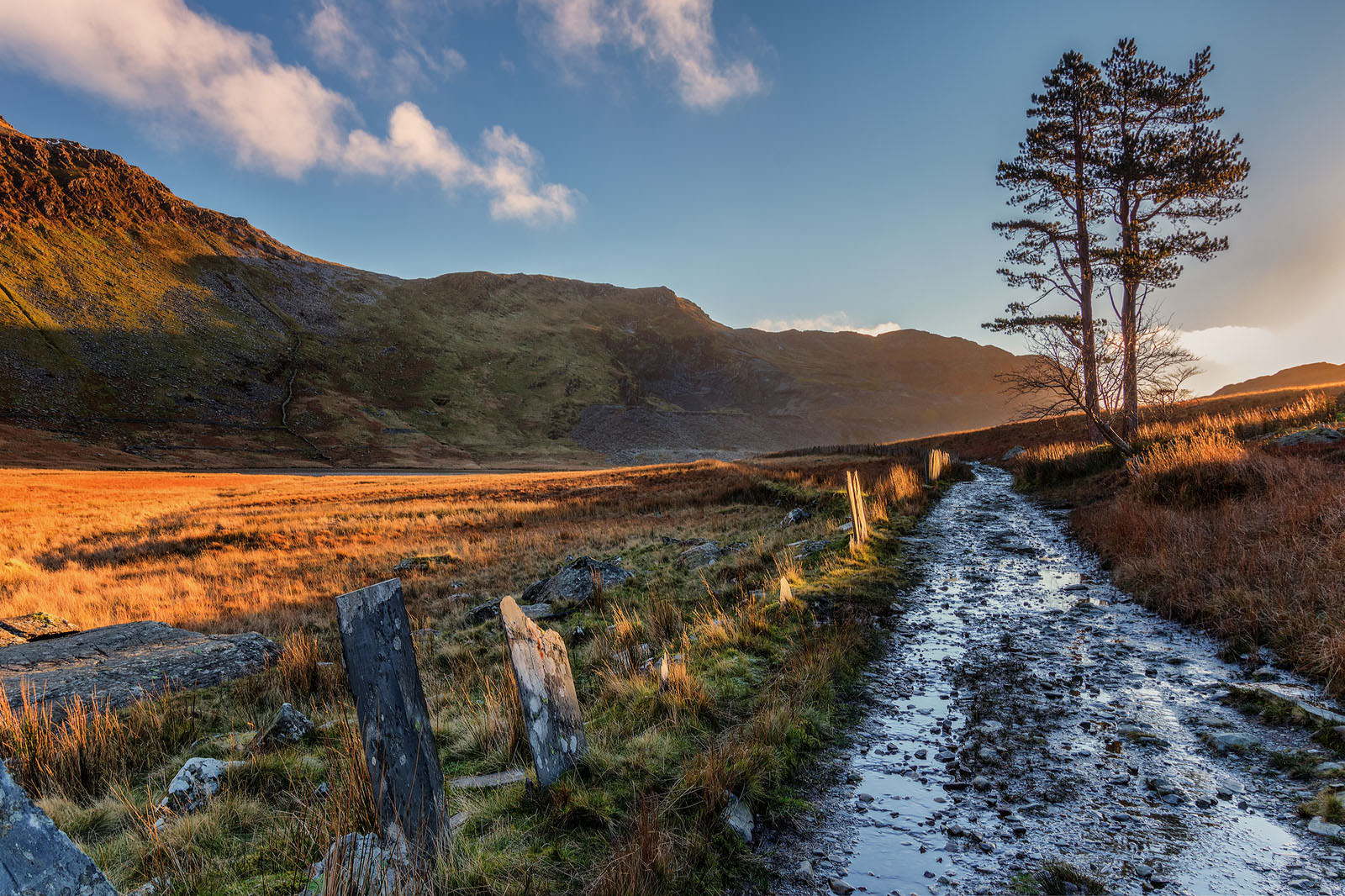 Cwmorthin Slate Quarry Sunrise Path