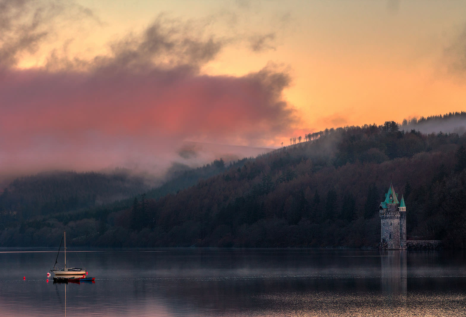 Morning Breaks over Lake Vyrnwy