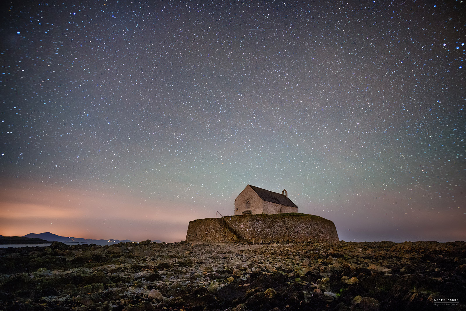 A Rocky Church & A Minty Night Sky
