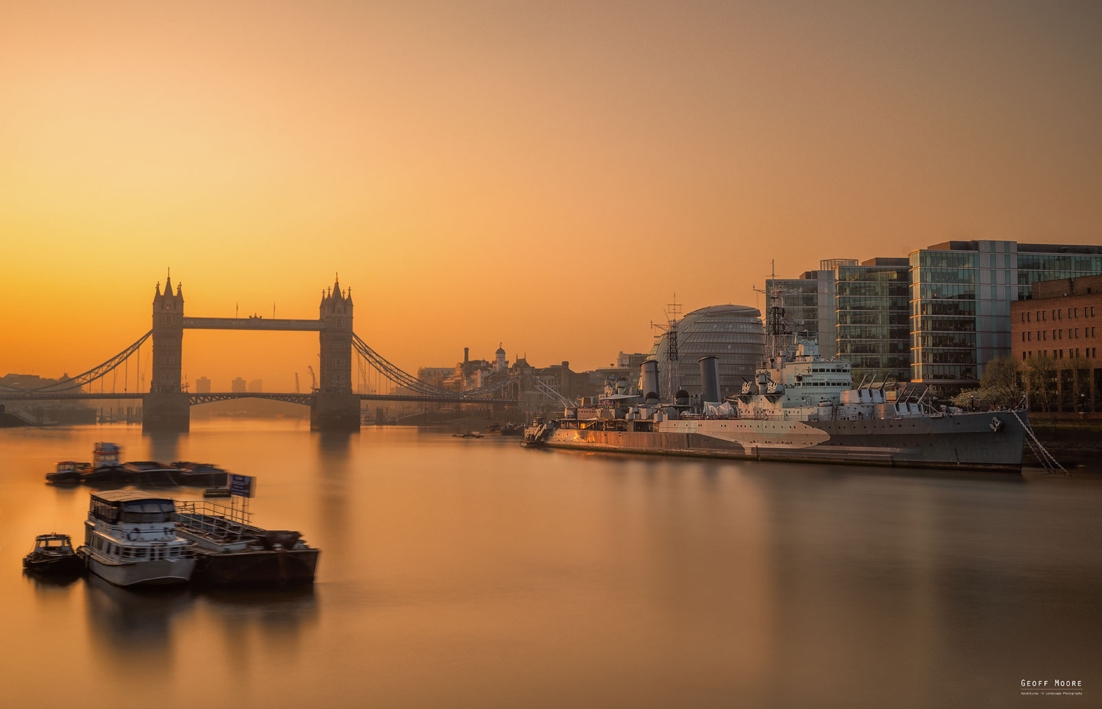 Tower Bridge & HMS Belfast - Thames Sunrise