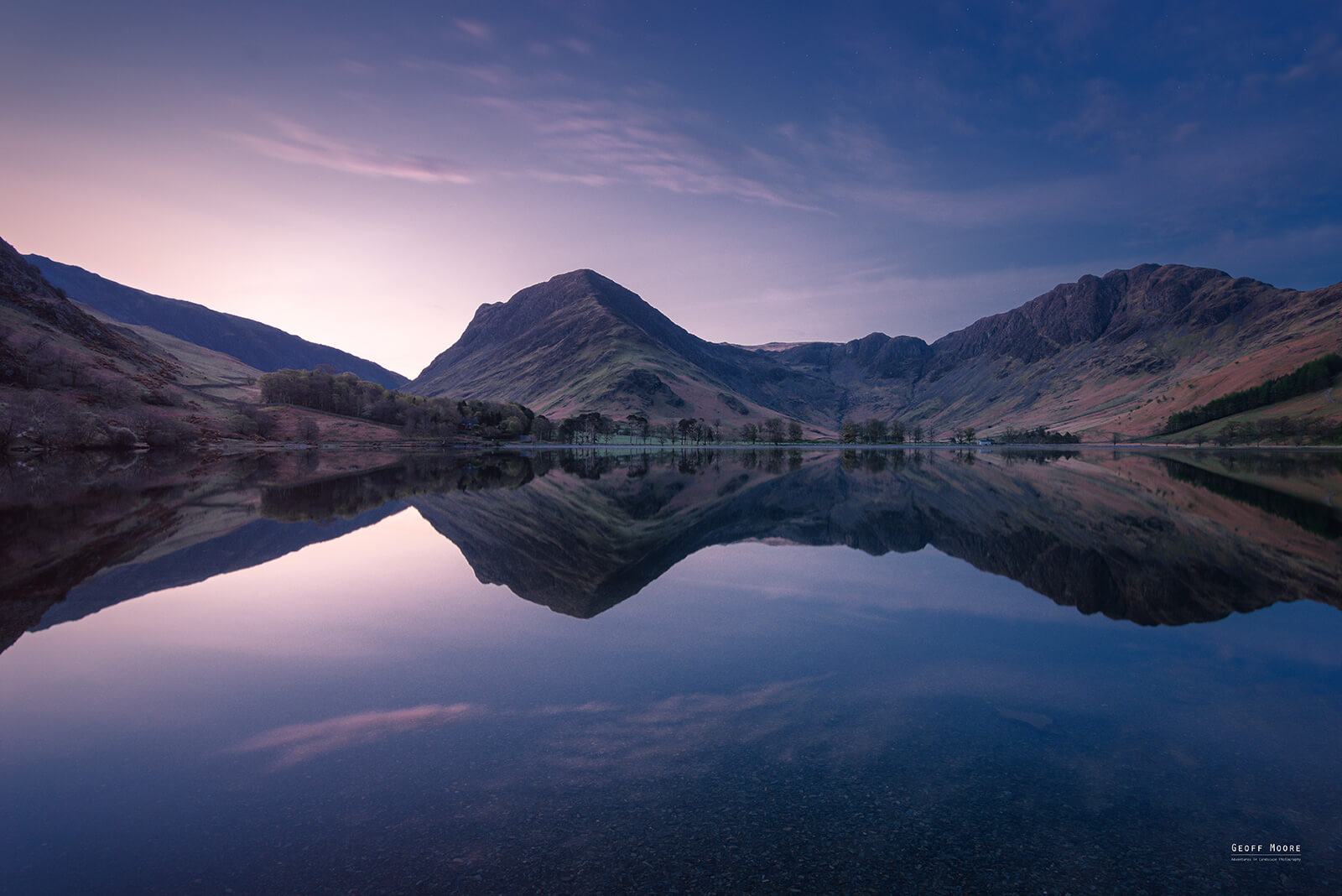 Nautical Twilight Transition Lake Buttermere